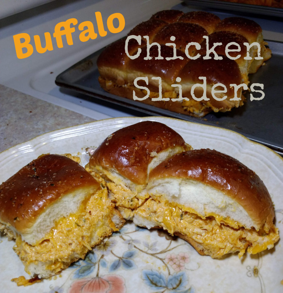 baked buffalo chicken sliders