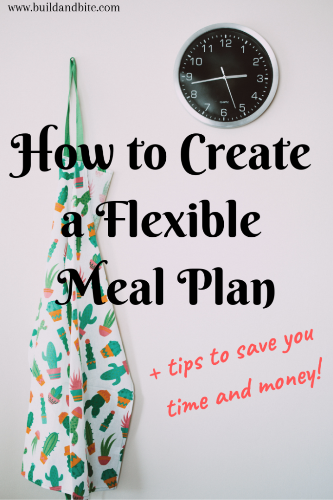 How to create a flexible meal plan +tips to save you time and money!